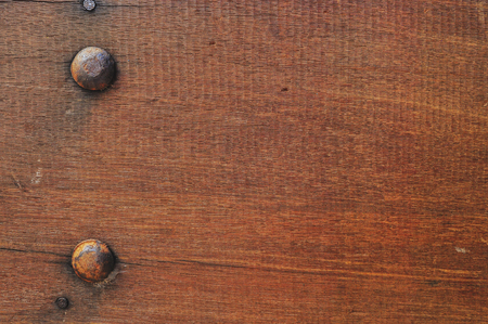 Closeup of brown wooden background.