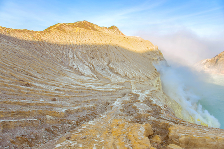 Kawah Ijen crater in East Java, Indonesia.