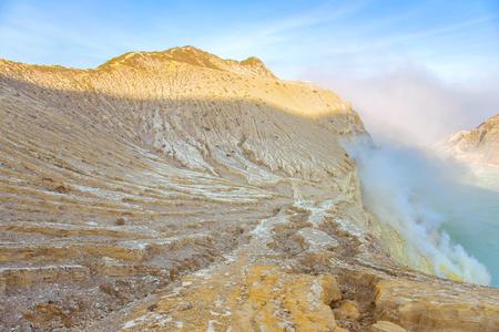 Kawah Ijen crater in East Java, Indonesia.