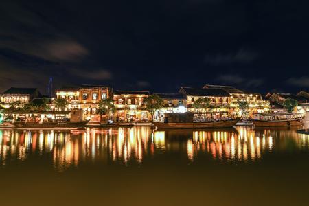 HOI AN, VIETNAM - NOVEMBER 24, 2016: Hoi An ancient town. Hoi An is a popular tourist destination of Asia.