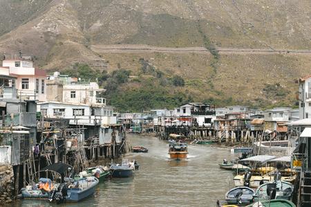 Tai O fishing village in Lantau island, Hong Kong.