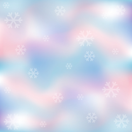 Snowflakes with pastel background. Christmas and New Year concept.  イラスト・ベクター素材