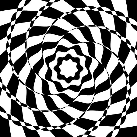 Black and white optical art background.