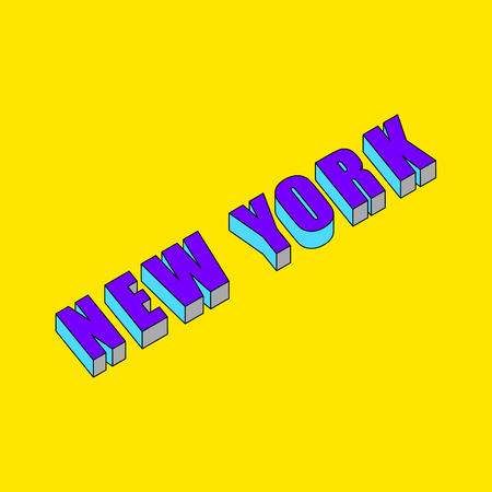 New York text with 3d isometric effect.