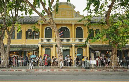 BANGKOK, THAILAND - OCTOBER 15, 2018 : Post office building at Na Phra Lan Road in Bangkok, Thailand. Editorial