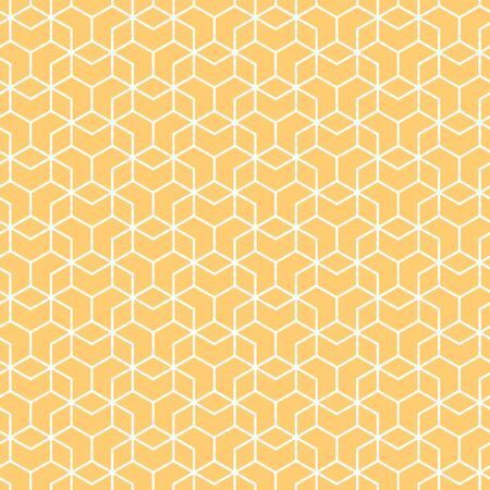 Cover template design with orange and white geometric pattern. Seamless background.