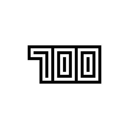 Number 700 icon design with black and white background. Vector illustration.