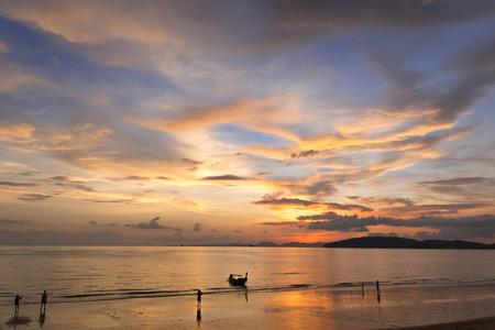 andaman sea: sunset at andaman sea Stock Photo