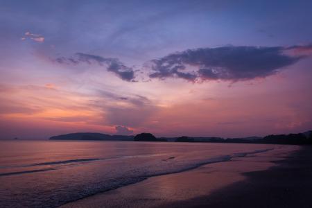 andaman sea: andaman sea and sunset