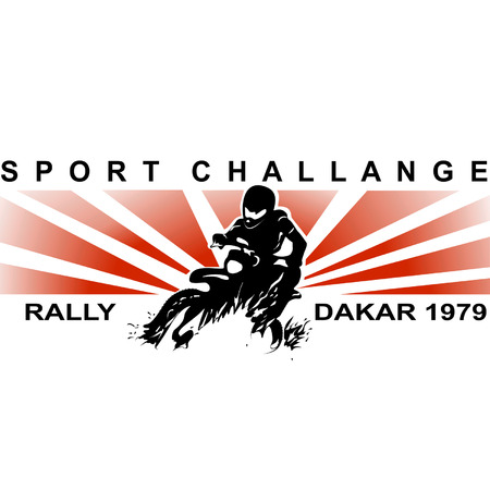 dakar: Vector icon related to sport challange. Illustration