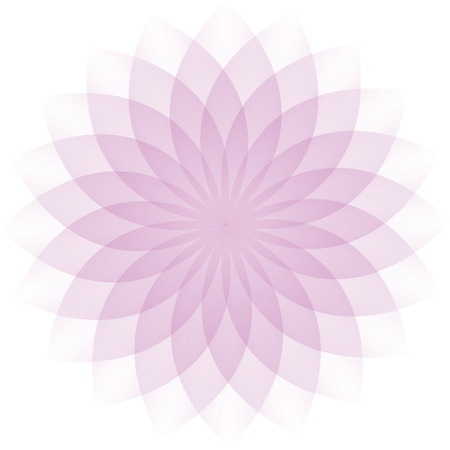 Pink flower icon vector. Looks like 3D graphics. Vector
