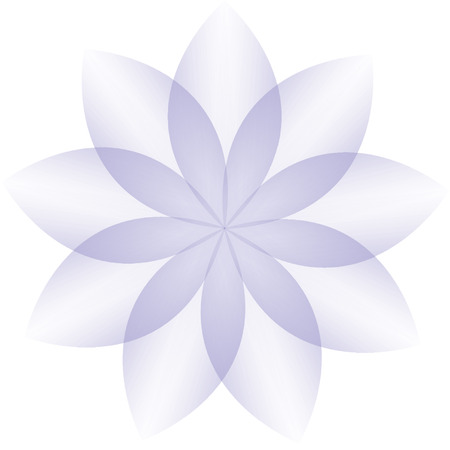 Violet flower vector on a white background Vector