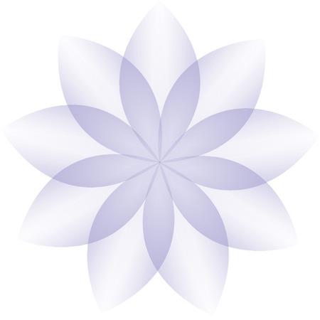 violet flower: Violet flower vector on a white background Illustration