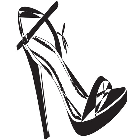 stepping: Fashion Shoe Store Icon Illustration