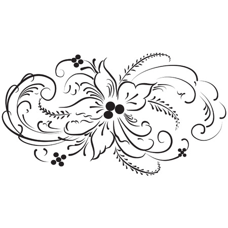 on cloud nine: Minimal Vintage Flower Logo