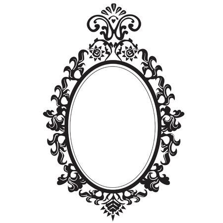 verschnörkelt: Alt elegante Spiegel. Illustration