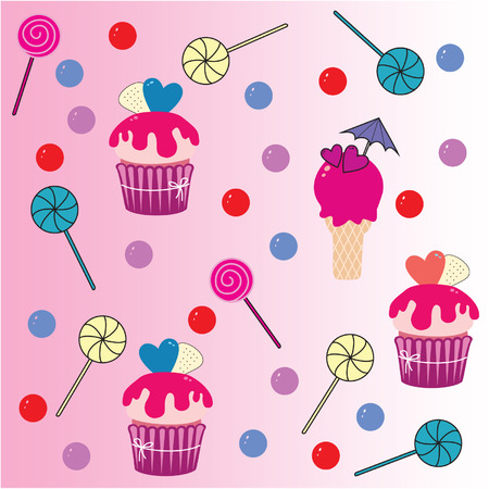 ideal: Sweet candy vector illustration. Ideal for restaurants, confectionery. Illustration