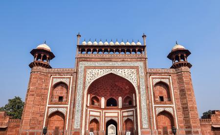 shah: South Grand entrance gate of Taj Mahal, Agra, India