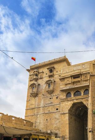 thar: Entrance gate to Jaisalmer Fort, Rajasthan, India