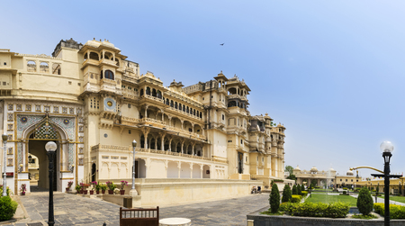 contributed: City Palace, Udaipur, is a palace complex in Udaipur, in the Indian state Rajasthan. It was built over a period of nearly 400 years being contributed by several kings of the dynasty.  It is located on the east bank of the Lake Pichola and has several pala Editorial
