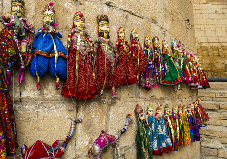 hand crafted: Hand Crafted Colorful Dolls and Puppets for sale at The Golden Fort of Jaisalmer, Rajasthan, India