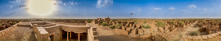 cursed: Panoramic view of Kuldhara An Abandoned  Cursed Village of Rajasthan