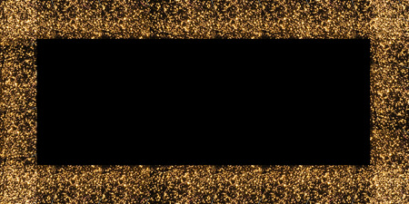 xxxl: A festive night sparkling fireworks photo frame over black sky  dark background