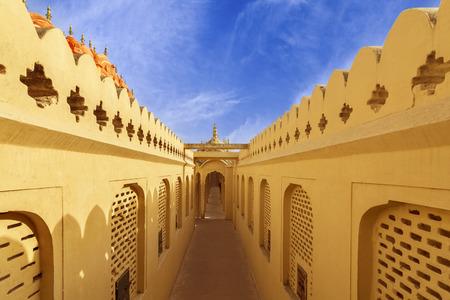 mughal: Corridors of Hawa Mahal Palace (Palace of Winds), Jaipur, Rajasthan