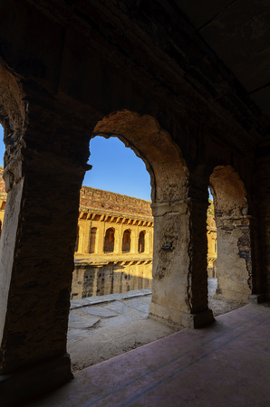 corridors: Corridors of famous stepwell  baori, situated in unknown village of Rajasthan, India