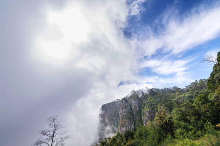The beautiful pillar rocks of Kodaikanal in the Palani mountains look breathtakingly scenic and mesmerizing Stock Photo