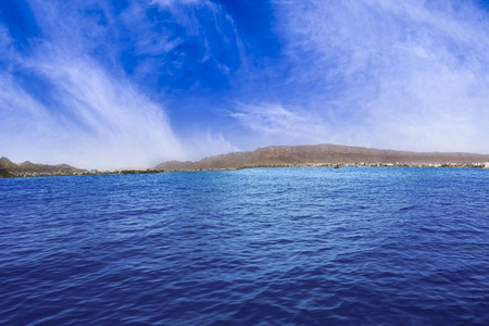 waterscapes: Ana Sagar Lake is an artificial lake situated in the city of Ajmer built by Anaji Tomar in 1135-1150 AD and named after him. The lake is spread over 13 kilometers Stock Photo