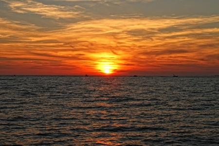 destin: A sunset off the coast of Destin, Florida  Stock Photo