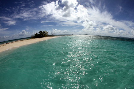 snorkle: Sailing to a remote island off the coast of Puerto Rico.