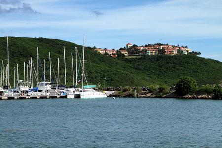 snorkle: A marina on the coast of Puerto Rico.