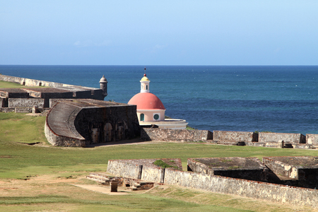 national historic site: The eastern side of a San Juan national historic site.