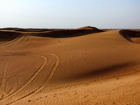 An open view of the Dubai Desert.