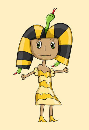 Kids drawing of queen Cleopatra