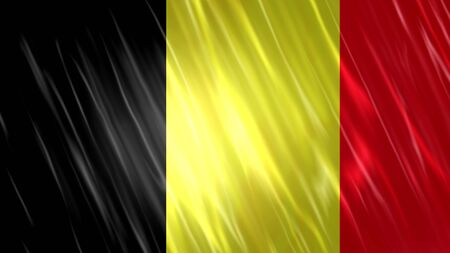 Belgien Flagge mit Stoffmaterial.
