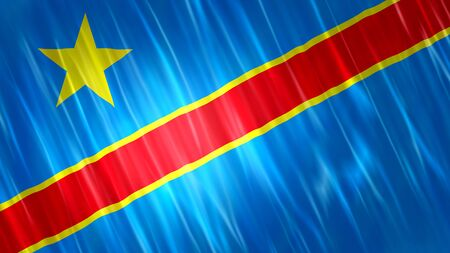 Democratic Republic of the Congo Flag with fabric material.