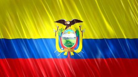 Ecuador Flag with fabric material.