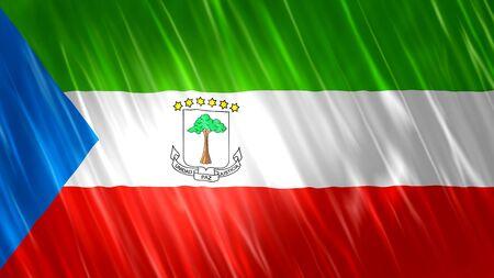 Equatorial Guinea Flag with fabric material.
