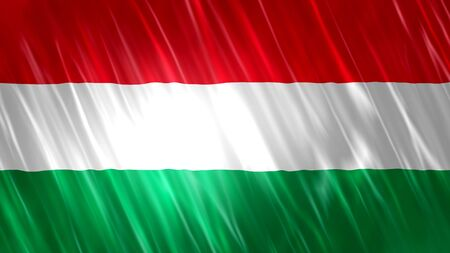 Beautiful Hungary Flag cloth 版權商用圖片