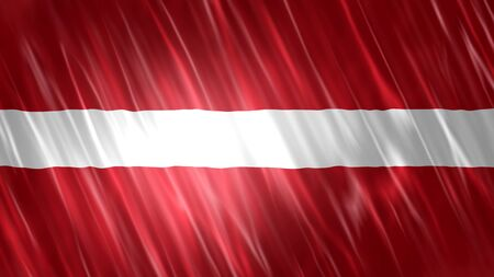 Latvia Flag with fabric material. Stok Fotoğraf