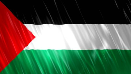 Palestine Flag with fabric material.