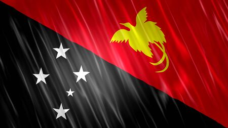 Papua New Guinea Flag with fabric material.
