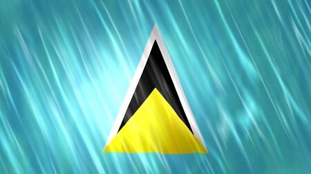 Saint Lucia Flag with fabric material.