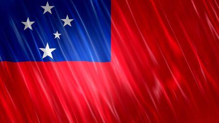 Samoa Flag with fabric material.
