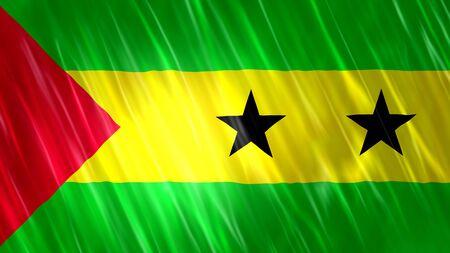 Sao tome and principe Flag with fabric material. Zdjęcie Seryjne