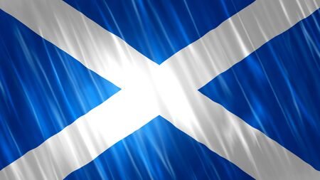 Scotland Flag with fabric material.