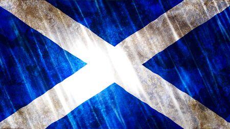 Scotland Flag with grunge texture.